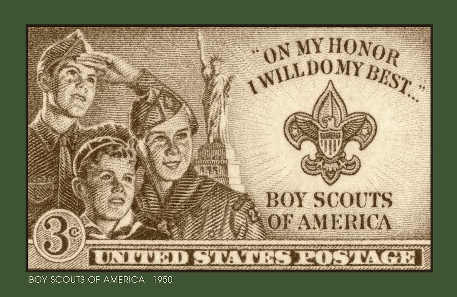Boy Scouts 1950 Digital Art