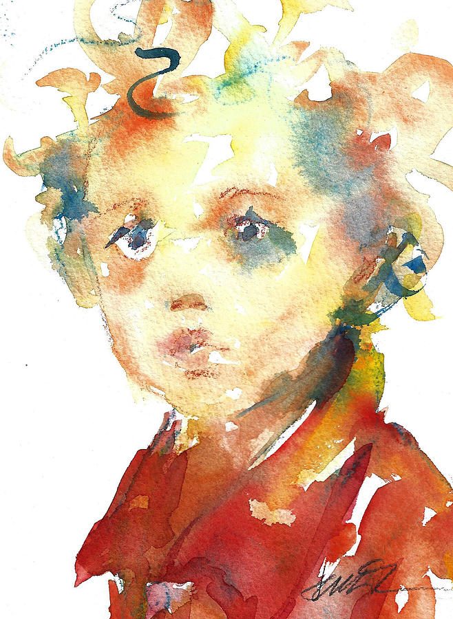 Boy with Curls  by Jacki Kellum