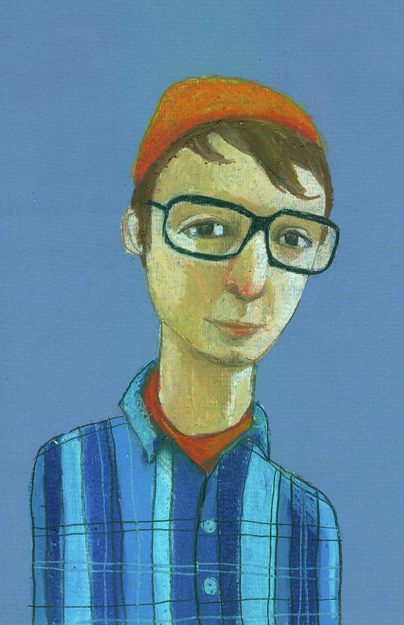 Boy With Glasses Digital Art by Jenny Meilihove