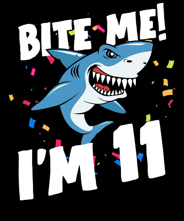 Boys 11 Years Old Happy Birthday Gifts Fun Party Shark Gift Idea