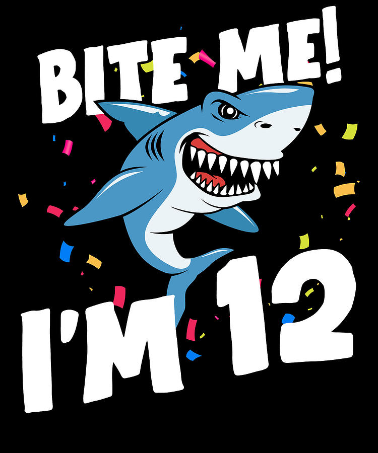 Boys 12 Years Old Happy Birthday Gifts Fun Party Shark Gift Idea