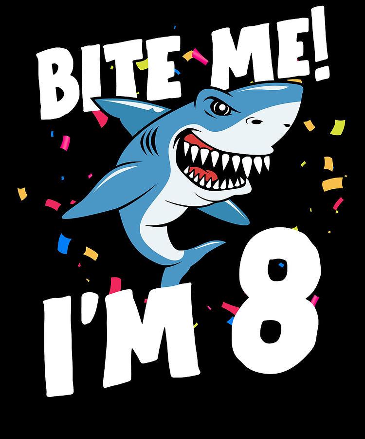Boys 8 Years Old Happy Birthday Gifts Fun Party Shark Gift Idea