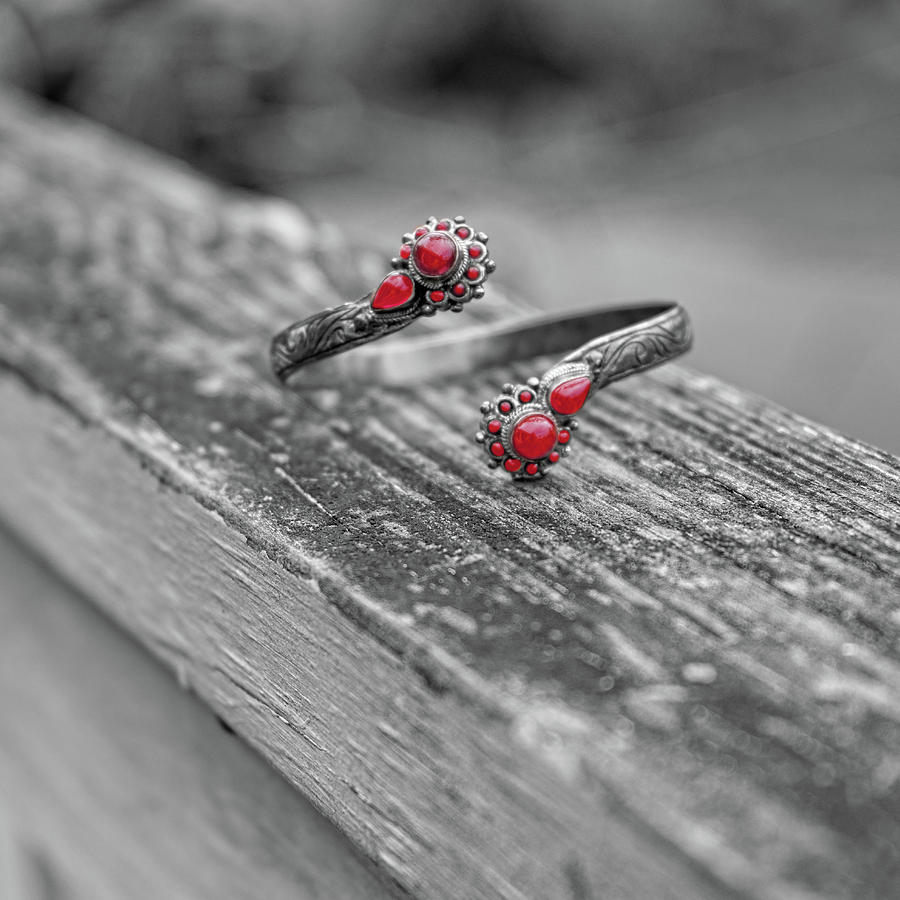Bracelet Red by Sharon Popek