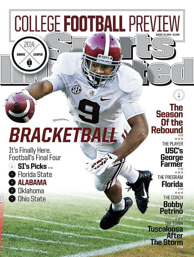 Bracketball 2014 College Football Preview Issue Sports Illustrated Cover Photograph by Sports Illustrated