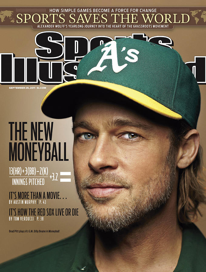 Brad Pitt Sports Illustrated Cover Photograph by Sports Illustrated