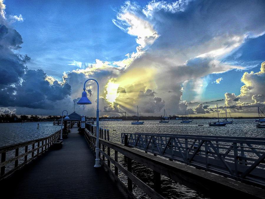 Bradenton Beach City Pier at Sunrise by Robert Stanhope
