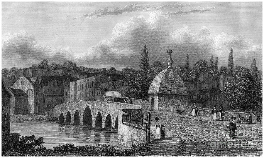 Bradford On Avon, Wiltshire, 19th Drawing by Print Collector
