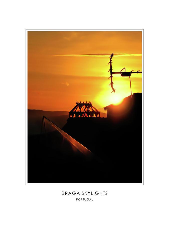 Braga Skylights - Portugal - Travel Poster by Menega Sabidussi