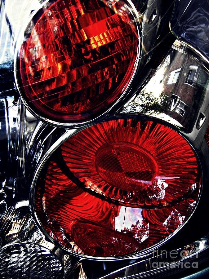 Brake Light Photograph - Brake Light 13 by Sarah Loft