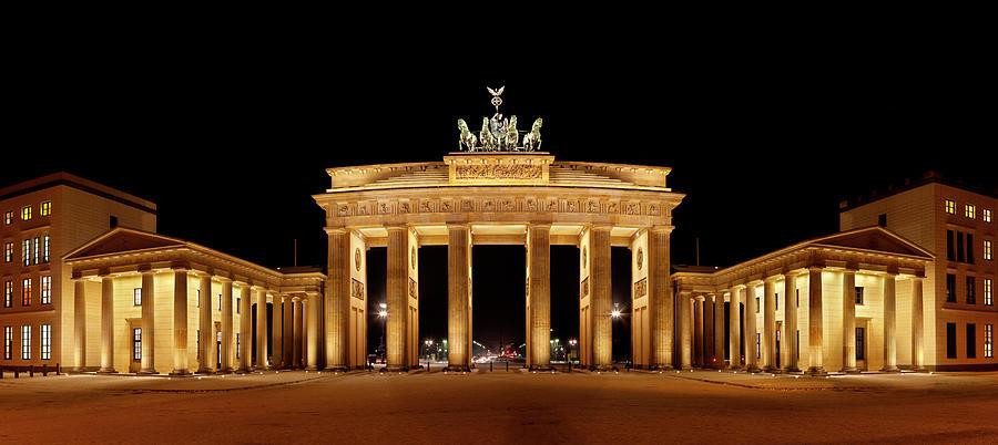 Brandenburg Gate Panorama Photograph by Michaelutech