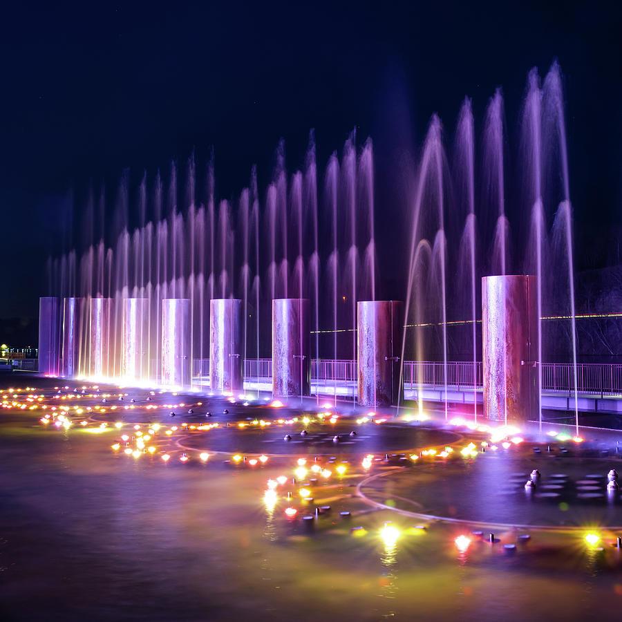 Branson Landing Fountains - Square Edition Photograph