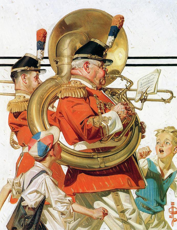 Joseph Christian Leyendecker Painting - Brass Band - Digital Remastered Edition by Joseph Christian Leyendecker