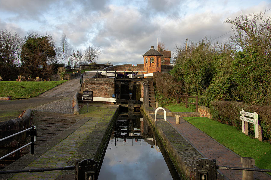 Canal Photograph - Bratch Locks Landscape by Steev Stamford
