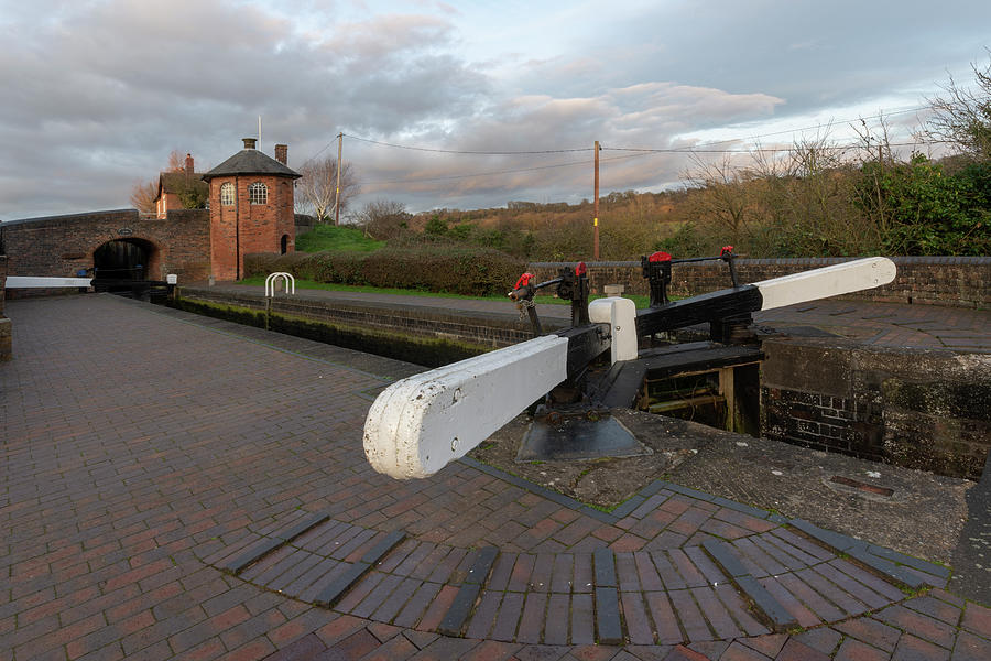 Canal Photograph - Bratch Locks Wide Angle by Steev Stamford