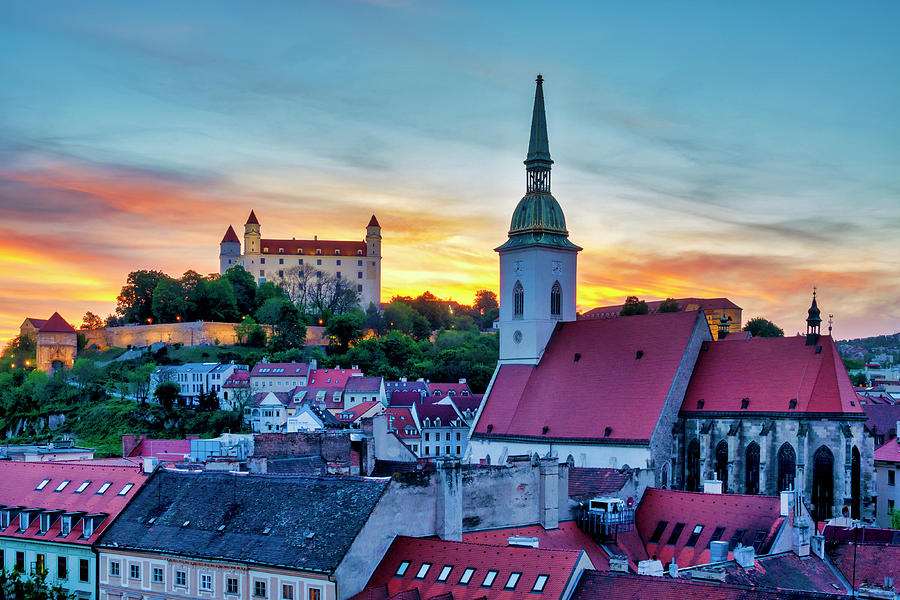 Bratislava Castle and St Martin Cathedral by Fabrizio Troiani