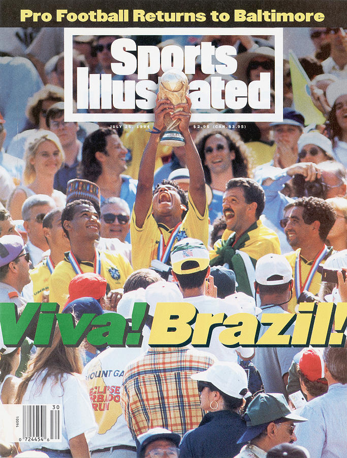 Brazil Marcio Santos, 1994 Fifa World Cup Final Sports Illustrated Cover Photograph by Sports Illustrated