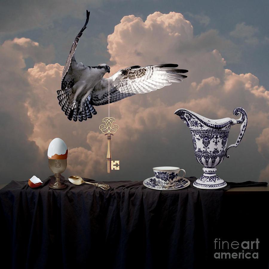 Breakfast with falcon by Alexa Szlavics