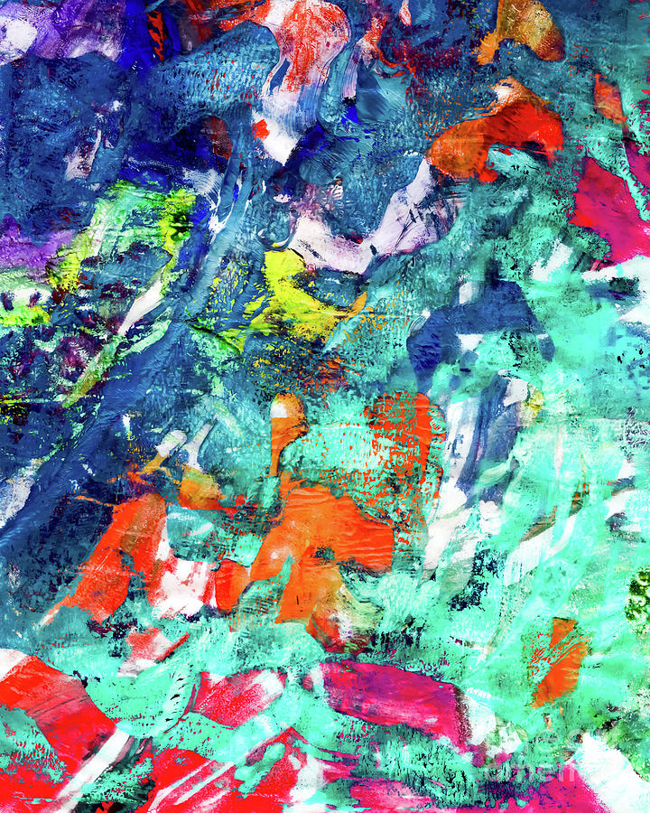 Abstract Painting - Breaking Apart by Laura L Leatherwood