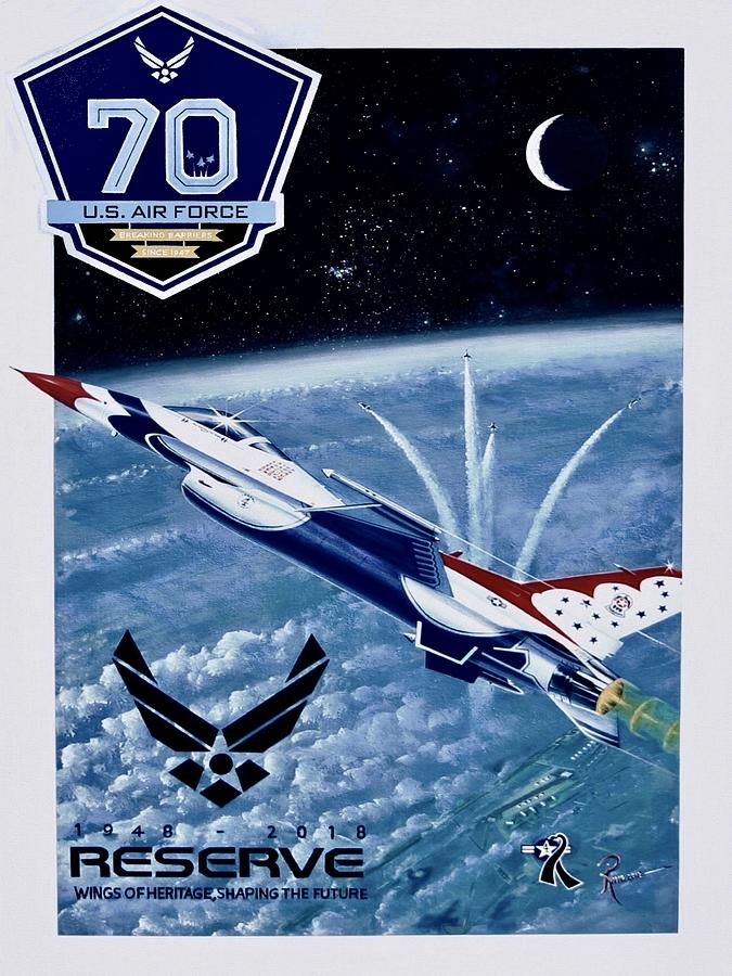 F-16 Painting - Breaking Barriers for 70 Years by Peter Ring Sr