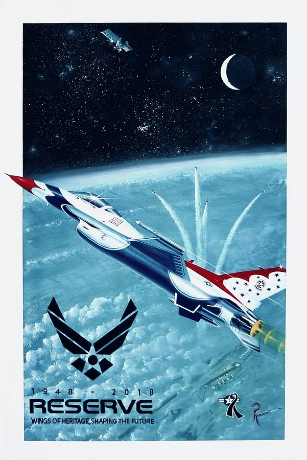 F-16 Painting - Breaking Barriers by Peter Ring Sr
