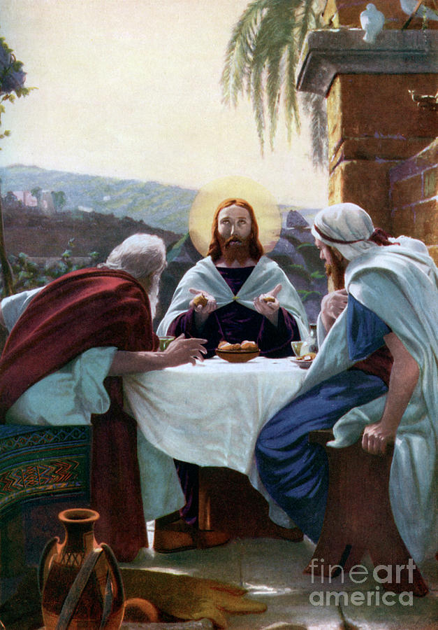 Breaking Of Bread At Emmaus, 1926 Drawing by Print Collector