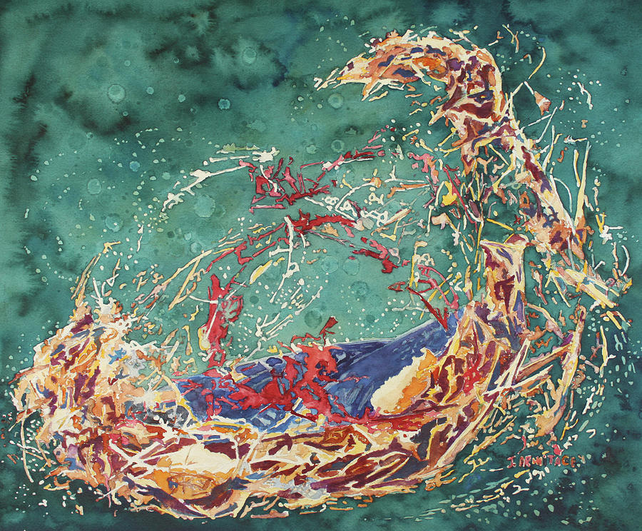 Empty Nest Painting - Breaking Out Empty Nest Iv by Jenny Armitage