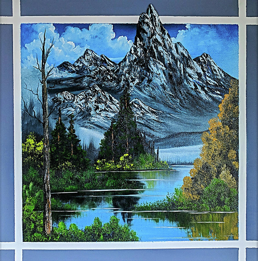 Mountain Painting - Breaking Through by Teri Lindley