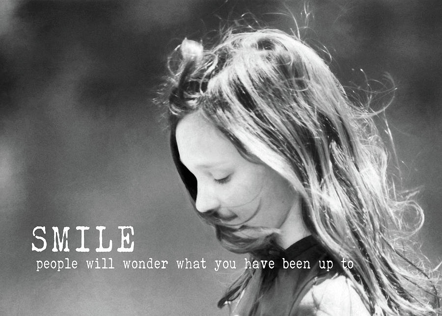 Girl Photograph - Breeze Quote by JAMART Photography