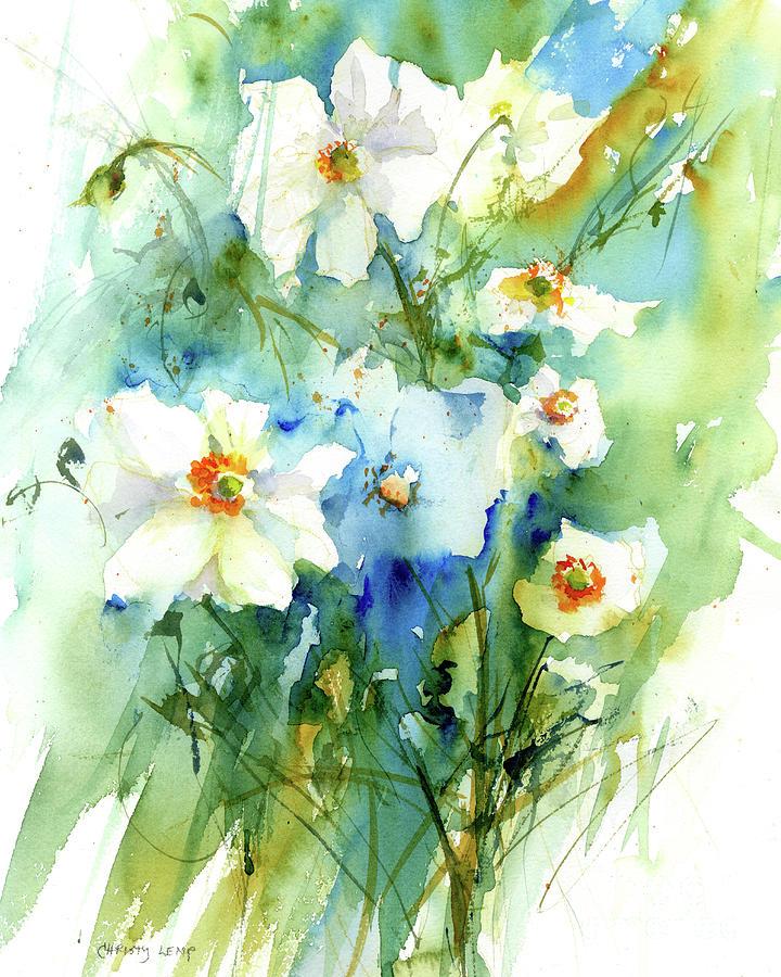 Breezy Anemones by Christy Lemp