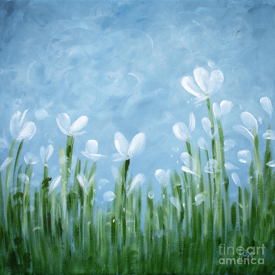 Breezy Blooms White flowers by Annie Troe