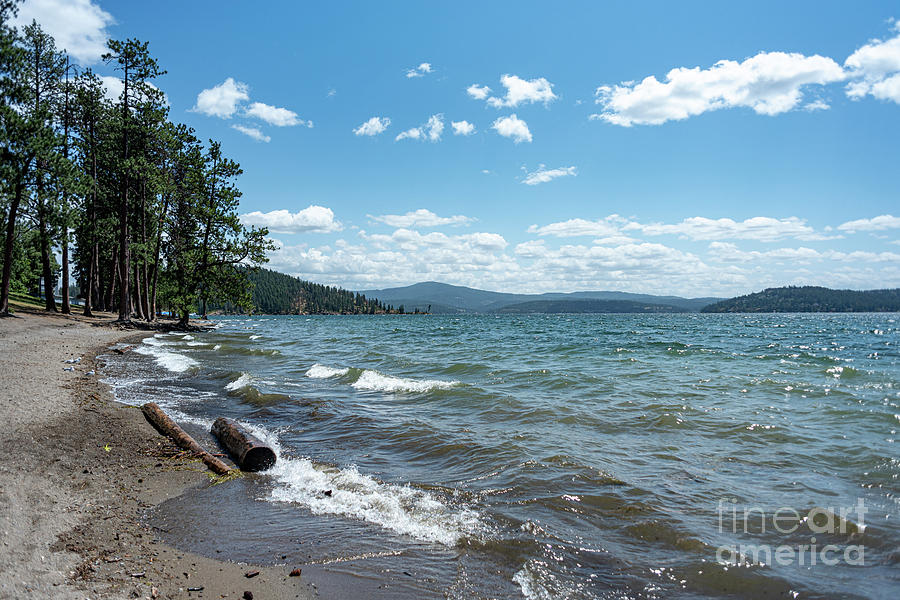 Breezy Day on Lake Coeur d'Alene by Matthew Nelson