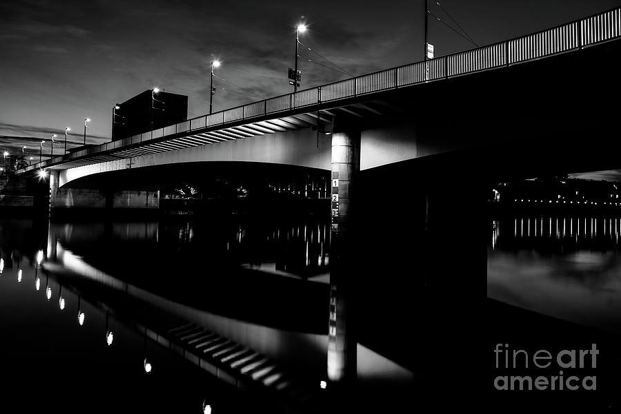 Bremen Bridge In Black And White Photograph