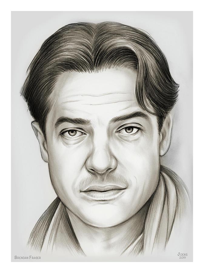 Brendan Fraser Drawing - Brendan Fraser by Greg Joens