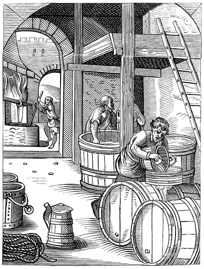 Brewer, 16th Century 1849.artist Jost Drawing by Print Collector
