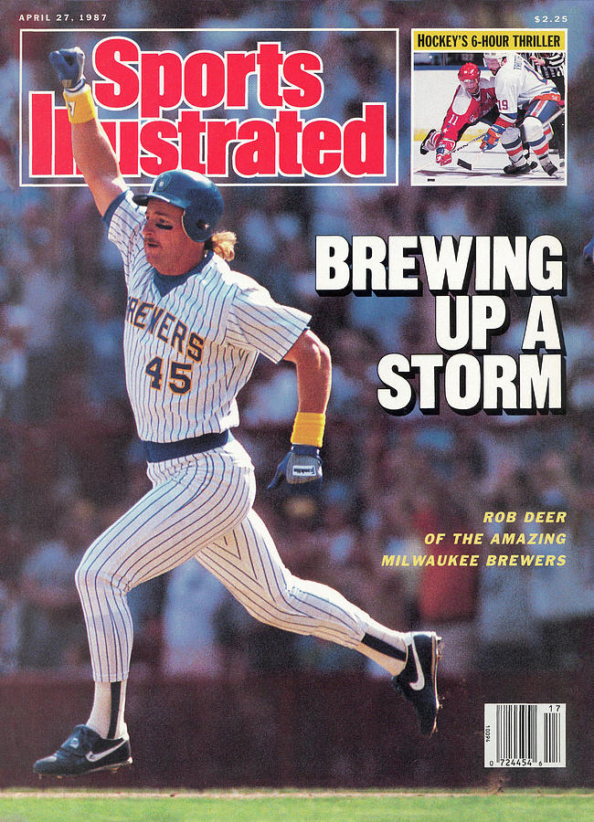 Brewing Up A Storm Rob Deer Of The Amazing Milwaukee Brewers Sports Illustrated Cover Photograph by Sports Illustrated