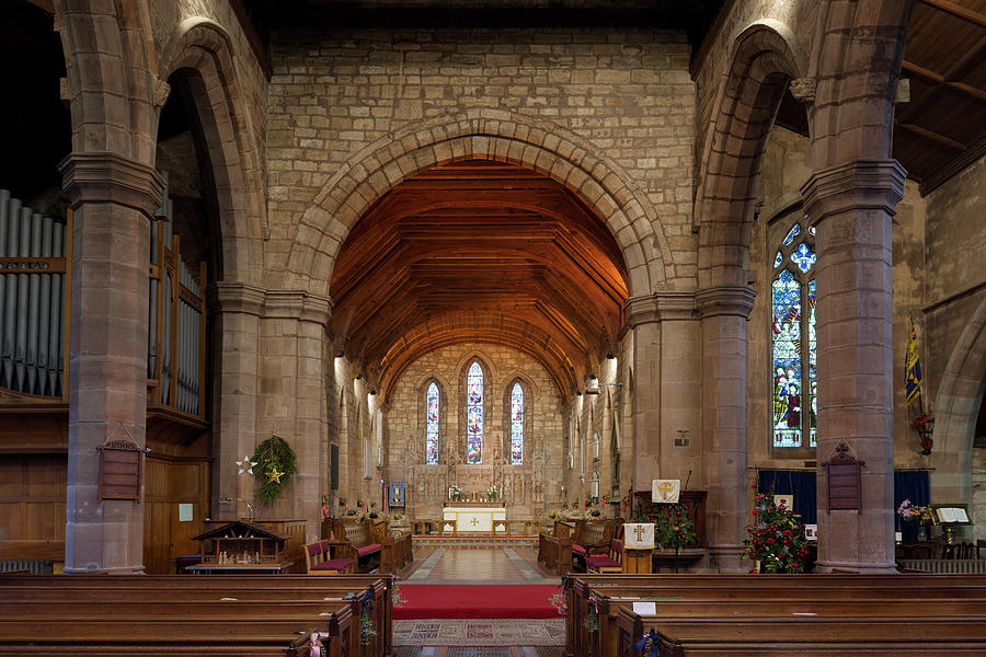 Brewood Photograph - Brewood Church by Steev Stamford
