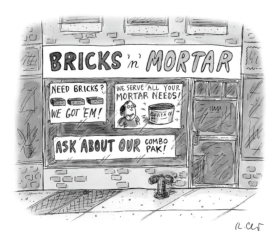 Bricks N Mortar Drawing by Roz Chast