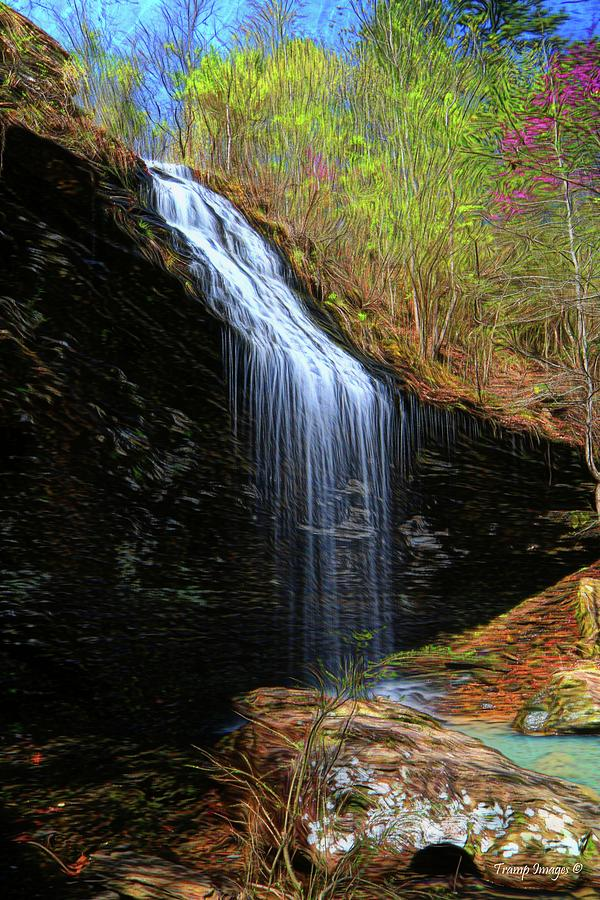 Bridal Veil Falls, Arkansas by Wesley Nesbitt