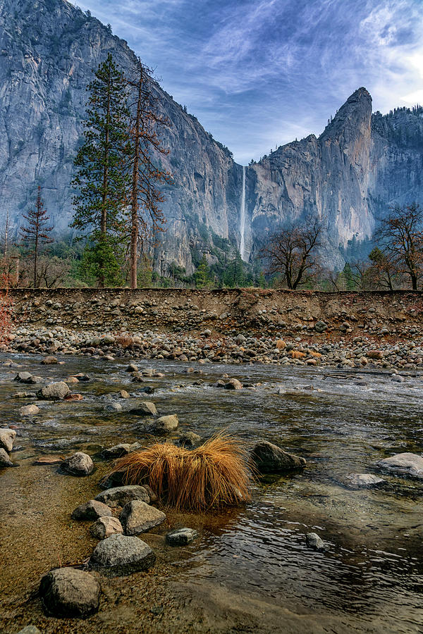 Bridalveil Fall Yosemite NP CA monotone_ GRK15 by Greg Kluempers