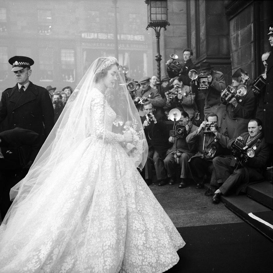 Bride Arrives Photograph by Bert Hardy