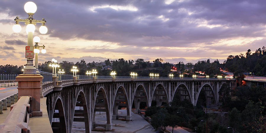 Bridge At Sunset Photograph by S. Greg Panosian