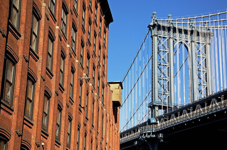 Bridge Beside Building Photograph by Fotog