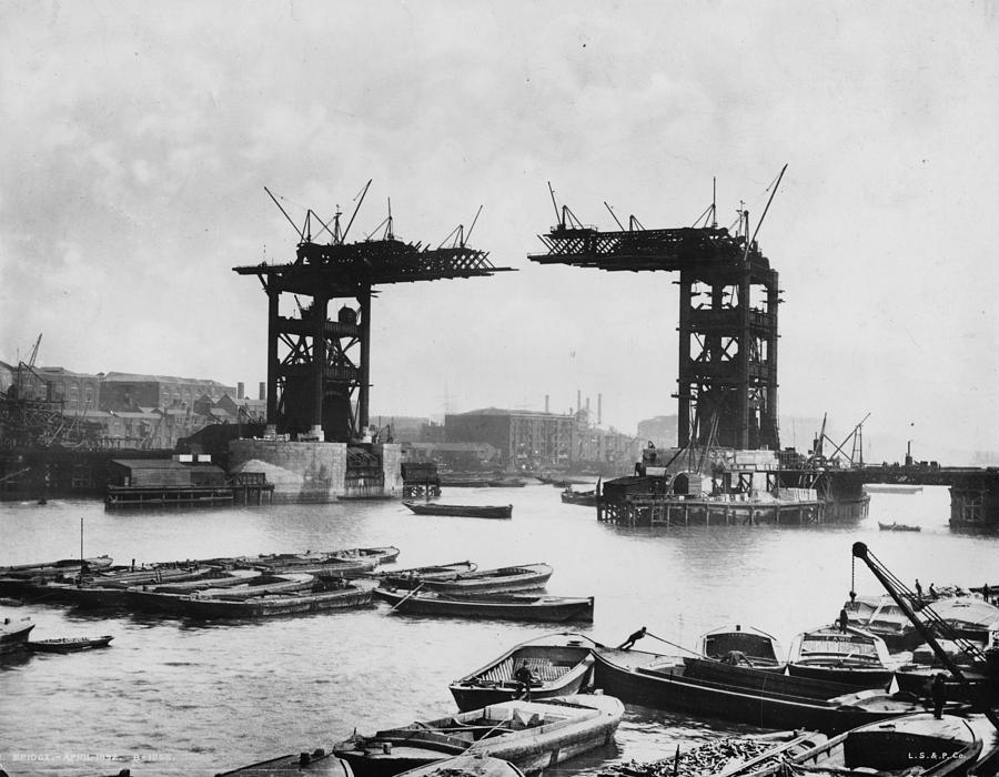 Bridge Construction Photograph by London Stereoscopic Company