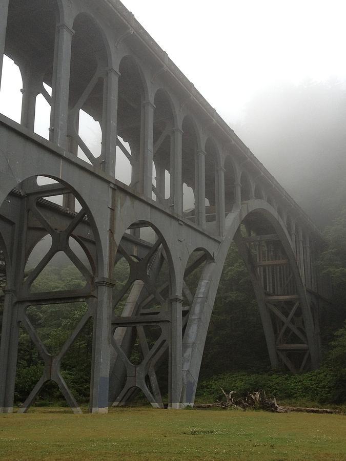 Bridge Photograph - Bridge In Mist by Norman Burnham