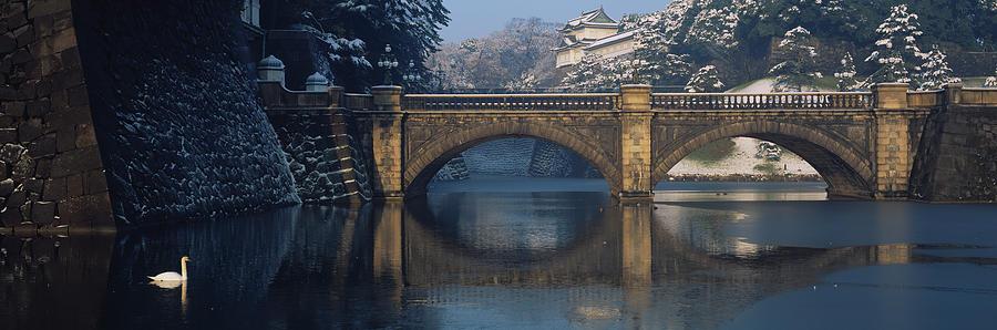 Horizontal Photograph - Bridge Nijubashi Tokyo Japan by Panoramic Images