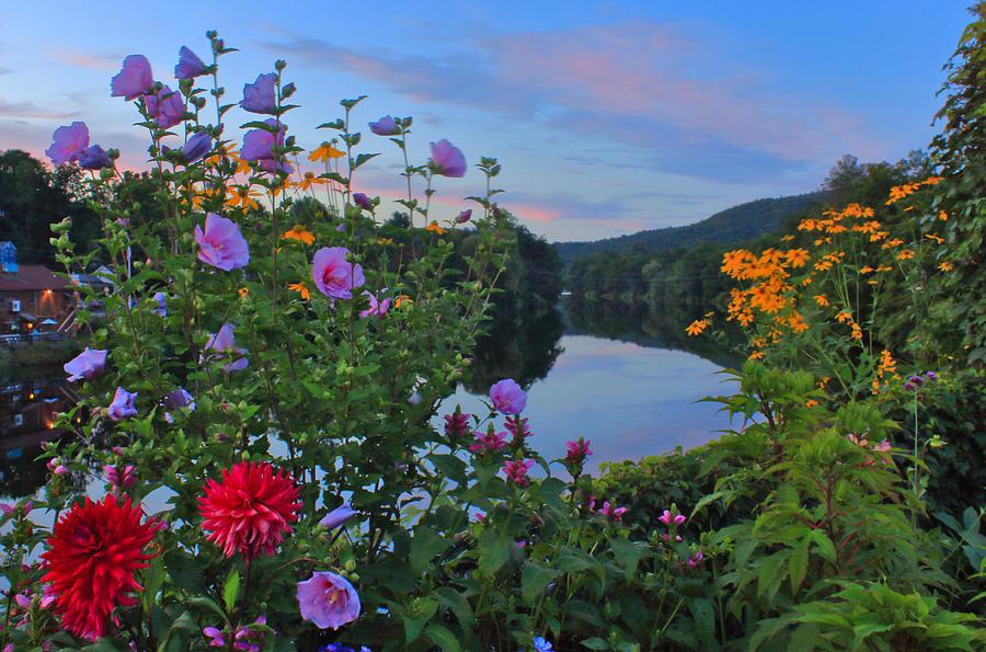Bridge of Flowers Shelburne Falls Late Summer Evening by John Burk