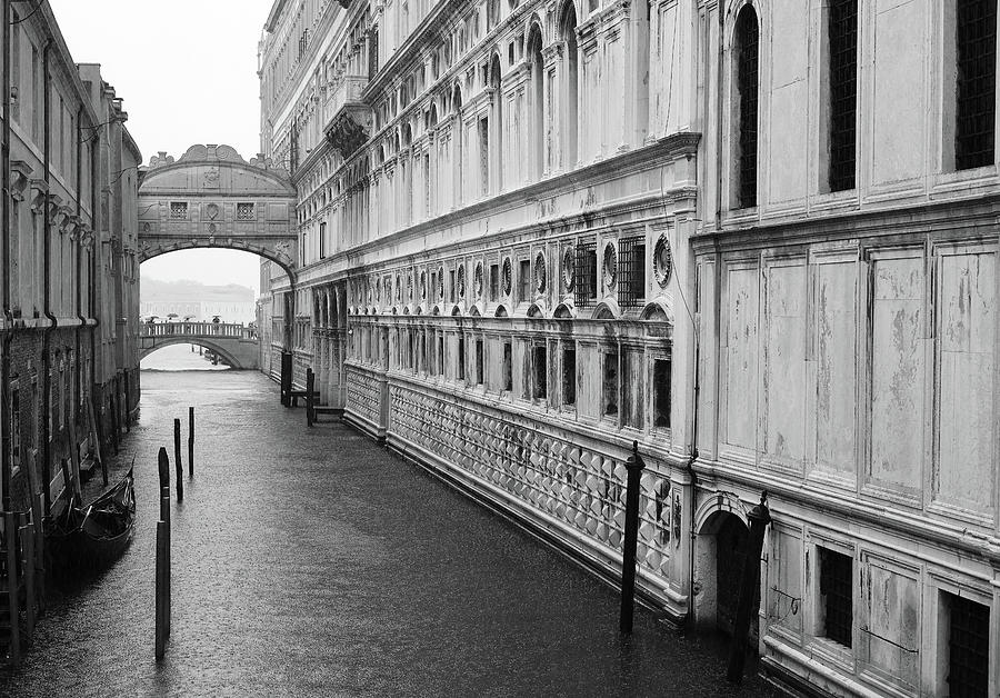 Bridge of Sighs in the Rain, Venice, Italy by Richard Goodrich
