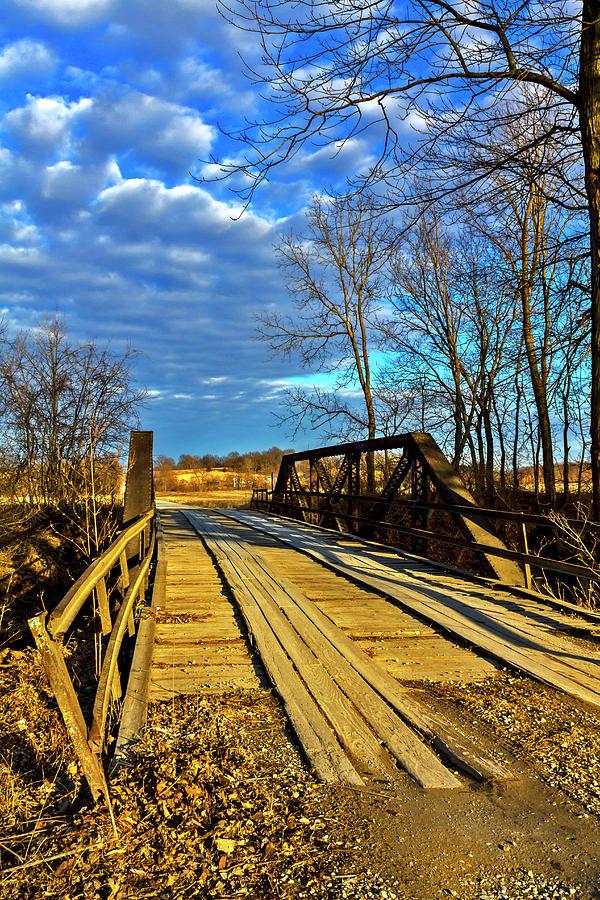 Bridge Over Creek Color No 2 Photograph