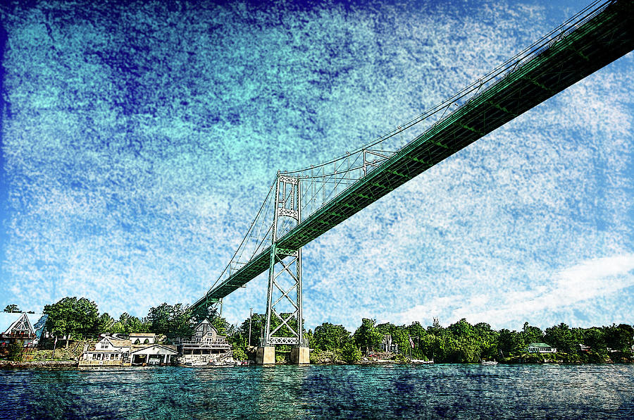 Bridge over St Lawrence River by Crystal Wightman