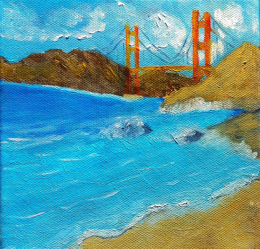 Bridge Painting - Bridge Over The Bay by George Dalton